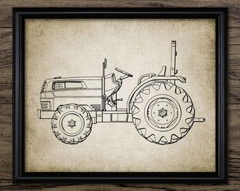 Vintage Tractor Print - Tractor Design - Farming Poster - Ranch Decor - Farming - Single Print #1192 - INSTANT DOWNLOAD