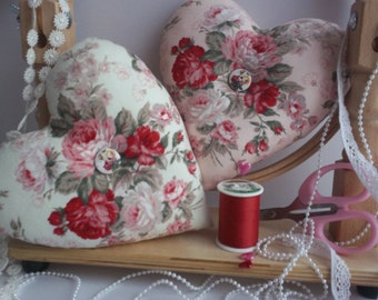 pincushion,pin cushion,heart shaped pincushion,heart pincushion,pink pincushion,fabric heart,pincushions,pincushion,roses,mini pillows,uk