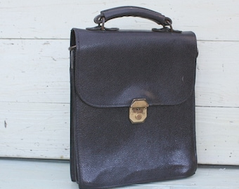 Black Leather Bag / Leather Bag / Vintage Bag / Black Bag / Vintage / Vintage Satchel / Black Leather / Leather Satchel