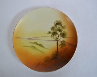 Antique Nippon Porcelain Landscape Plate