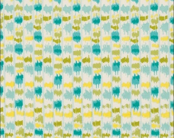 100% Cotton Fat Quarter Freespirit Tangier Stripe in Blue and Yellow