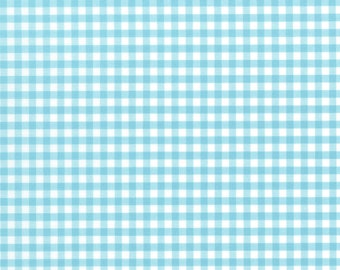 Modern Plaid - Aquamarine (86) by In The Beginning Quilt Fabric Sewing Fabric