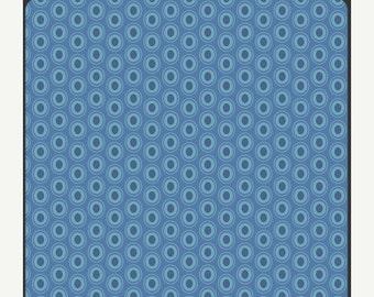 Superbowl Sale Oval Elements - Sapphire - Art Gallery Fabrics Fat Quarter