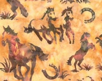 Hoffman Fabrics Coral Horse Bali Batik Fabric by the Yard N2907-59-Coral