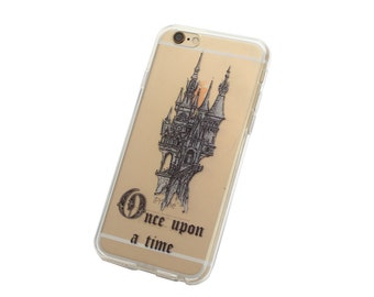 Once Upon a Time Castle iPhone Case - Your choice of Soft Plastic (TPU) or Wood