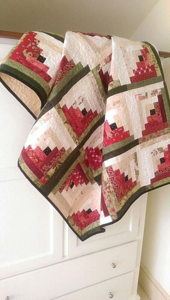 Log Cabin Quilt Pattern PDF Winter Quilt Christmas Quilt : log cabin quilt pattern instructions - Adamdwight.com