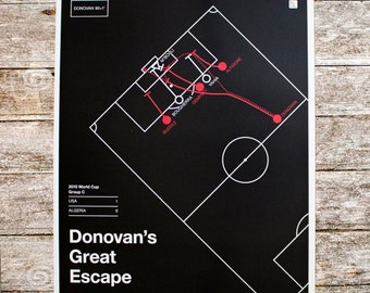 US Men's National Team 2010 Poster: Donovan's Great Escape (16x20)