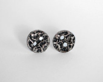 Metal Button Earrings