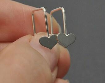 Sterling Silver Ear Wires, Handmade Earrings, 20 Gauge, Heart Earrings