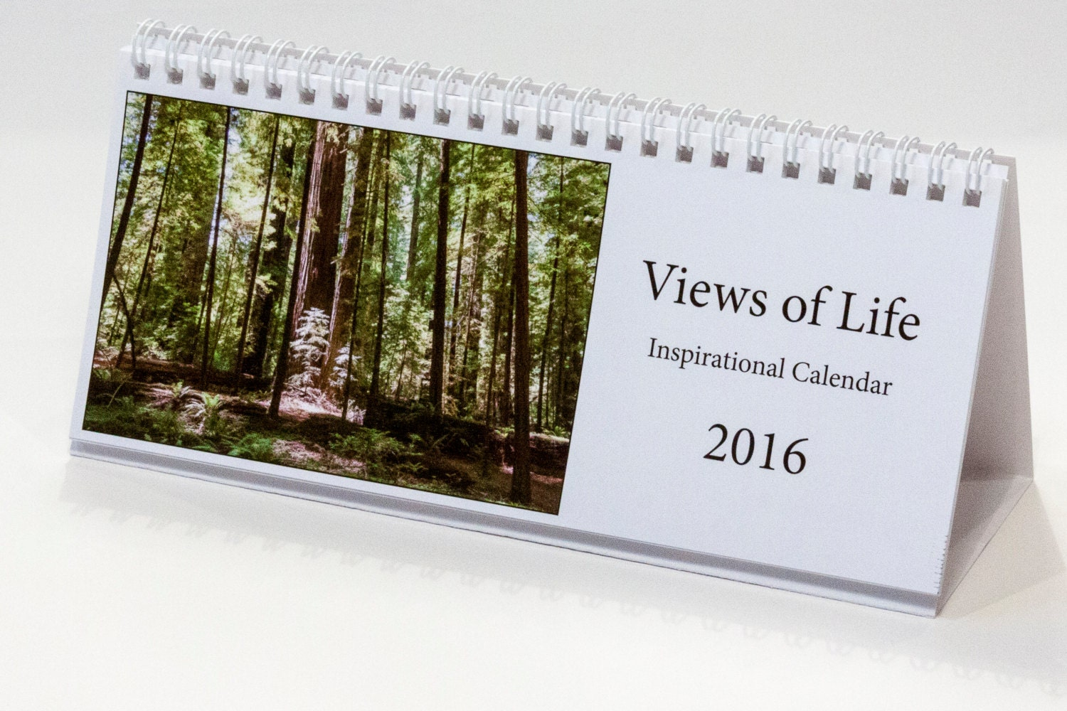 Self Made Calendar 2016 : Desk flip calendar with nature photos by viewsoflife