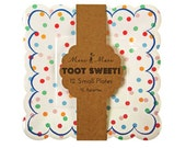 Toot Sweet Spotty Small Plates (Set of 12) Meri Meri Boutique Tableware Party Supplies Paper Plates