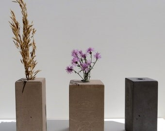 Concrete Vase - Short