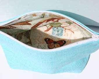 Blue Zipper Bag