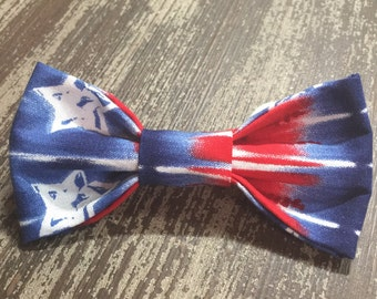 PATRIOTIC AMERICANA Bow Tie or Flower Collar Attachment & Accessory for Dogs and Cats / 4th of July