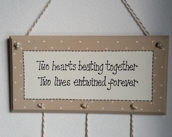 Personalised Romantic Plaque Gift Present Sign Wedding Anniversary Valentines Engagement