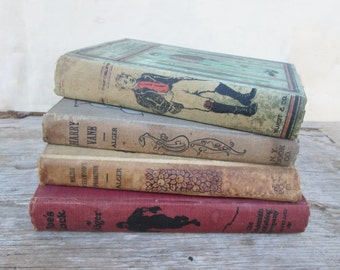 Vintage Lot Books Horatio Alger, Faded Antique Stories for Boys