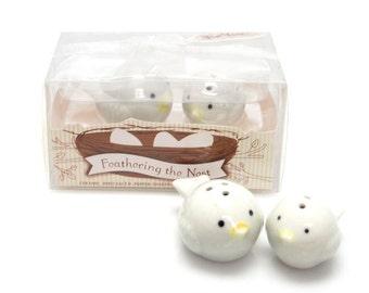 Ceramic Love Birds Favor Salt and Pepper, 2-inch