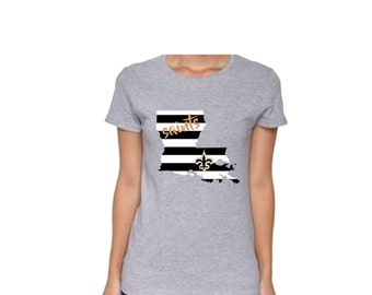 Louisiana Stripe Saints Shirt