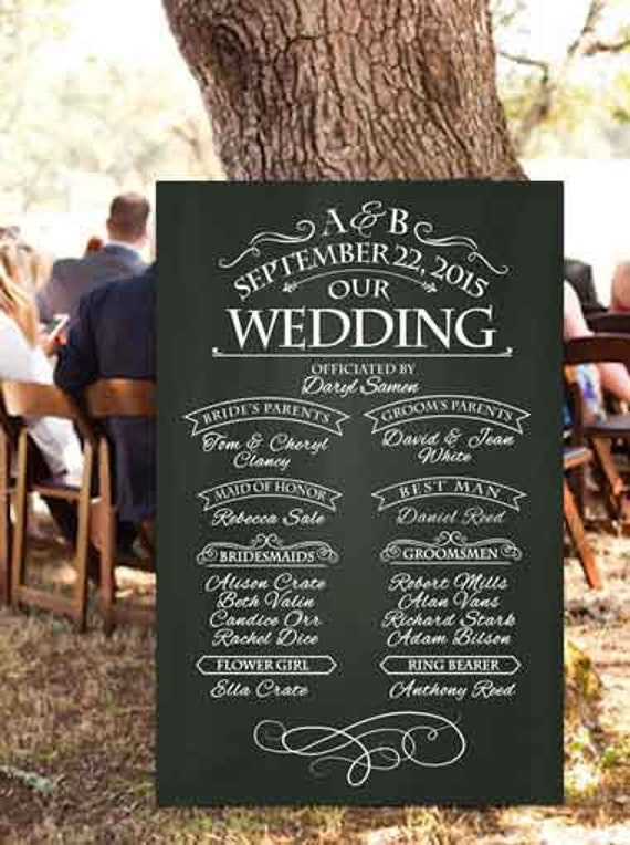 Chalkboard Wedding Program Sign Printable Wedding Program. Stroke Warning Signs. Corporate Event Signs Of Stroke. Kid Zone Signs. Morphine Signs. Puppy Signs. Catholic Faith Signs. Trigger Signs. Cord Compression Signs Of Stroke