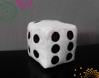 Dice In the hoop, 3D dice embroidery design for 5x7 and 6x8 hoops,#644