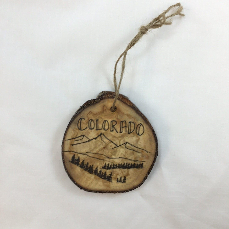 Colorado aspen christmas tree ornament