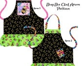 Busy Bee Chef Apron Pattern - INSTANT DOWNLOAD