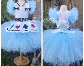 Blue Wonderland Tutu Dress Set