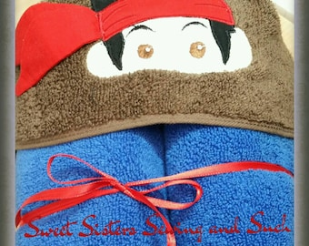 Jake the pirate hooded towel 3D