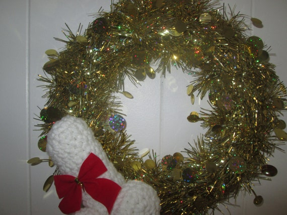 Xmas penis wreath bad santa white trash xmas wreath penis for Bad christmas decoration