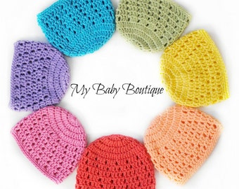 Charity Baby Caps - Crochet PATTERN - 8 sizes