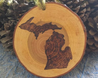 State of Michigan Christmas Ornament