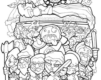 Snow Whites Defenders Colouring Page Adult Book