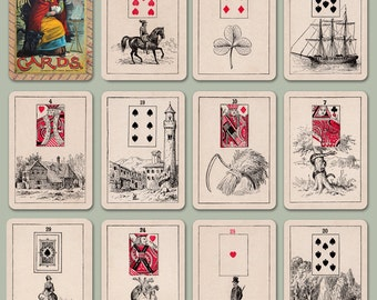 Madam Morrow's Fortune Telling Cards, Lenormand