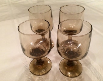 Vintage Libbey Tawny Accent Glasses/Barware/Wine Glasses