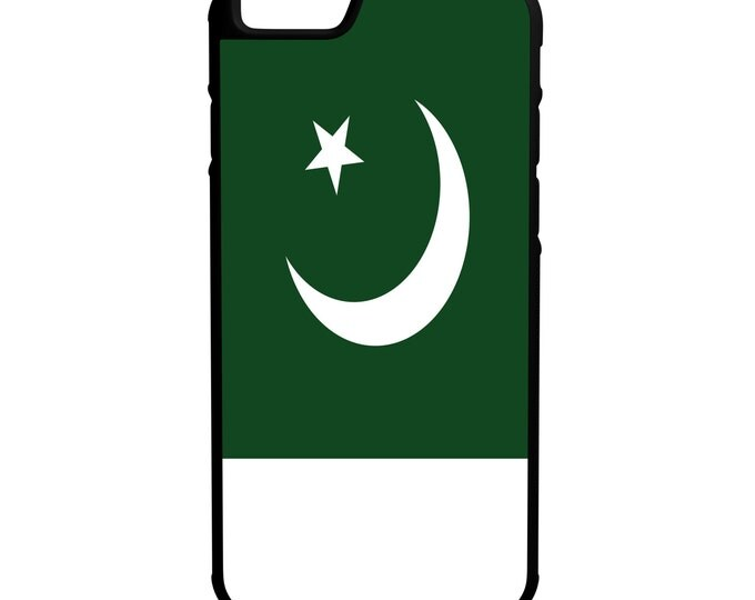 Pakistan Flag iPhone Galaxy Note LG G4 Hybrid Rubber Protective Case
