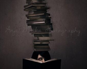 Conceptual, Fine Art Print, Bookworm
