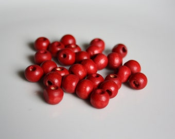 Vintage Wooden Beads - Beading Supplies