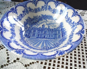 Royal Homes Cobalt Blue And White English Ironstone Transferware EIT Serving Bowl FREE SHIPPING