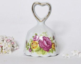 Vintage Roses China Bell ~ Cottage Chic ~ Vintage Wedding ~ Shabby ~ Vintage Decor