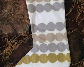 Christmas stocking from Marimekko Rasymatto gold silver white, Finland