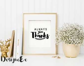 Print - Always Give Thanks