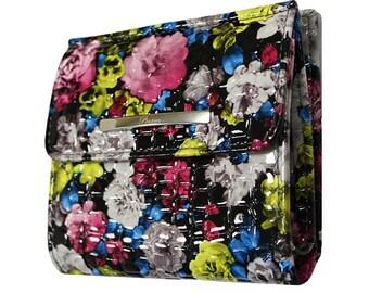 Floral wallet, Women flowers wallet, Flowers pattern wallet, Teenage girl wallet, Girls wallet, Women pocket wallet, Women smaller wallet