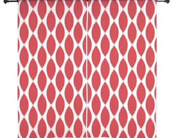 Chiffon Curtains - Girls Curtains - Bedroom Curtains - Sheer Curtains - Dorm Room Curtains - Teen Curtains - Teen Decor - Red Curtains - Red