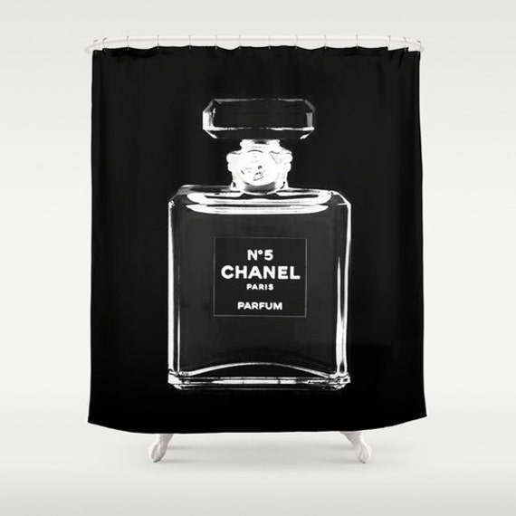 Shower Curtain Chanel Girls Shower Curtain By BellaBellaShoppe