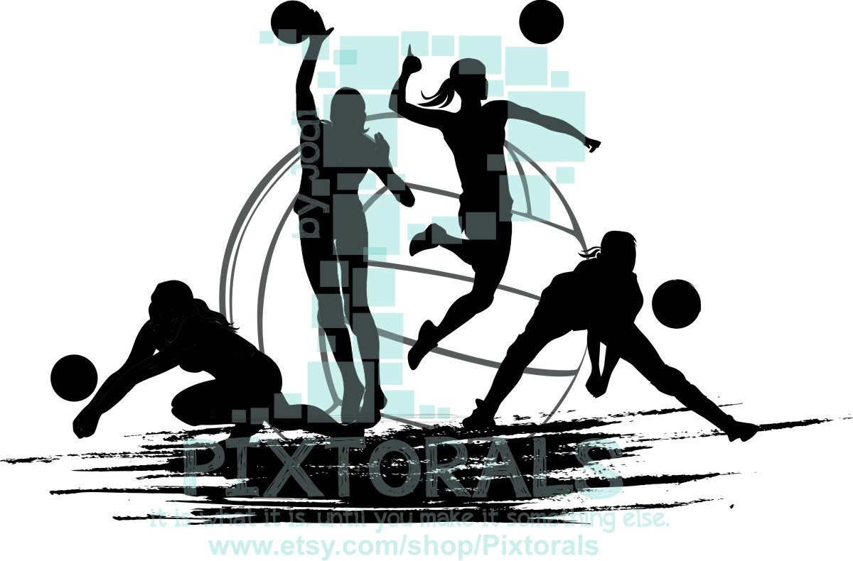 Abstract Design Of A Beach Volleyball Player Vector Image: Volleyball Players Vector! Volleyball As PNG, JPG (high