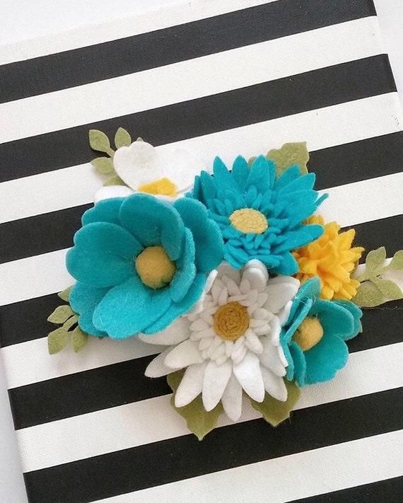 Felt Flowers Wall Decor : D wall flowers felt hanging flower by thegreyrose