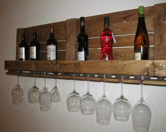 Wine rack from well-traveled palette * in vino veritas *.