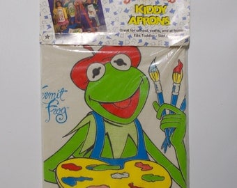 Muppets Kermit The Frog Child's Apron Arts Crafts Jim Henson NOS Sealed Vintage 1989