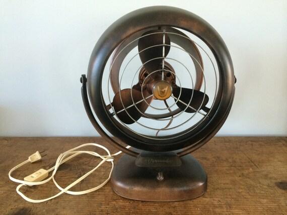 Vornado Desk Fan : Vintage working retro  brown vornado by