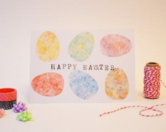 Watercolour Egg Easter Card